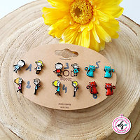 "Boucles D'oreilles Clous LOLILOTA "" We are Family"""