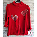 Pull doux col montant