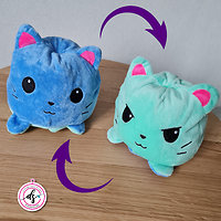 Peluche chat réversible