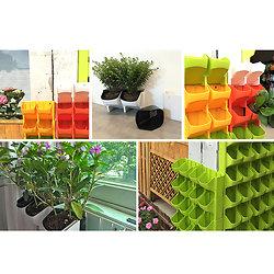 Le mur potager-pots pour balcon empilables