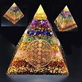 PYRAMIDE D'ORGONITE 7 CHAKRAS