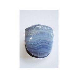 Calcédoine bleue en pierre roulée pour la collection ou thérapie
