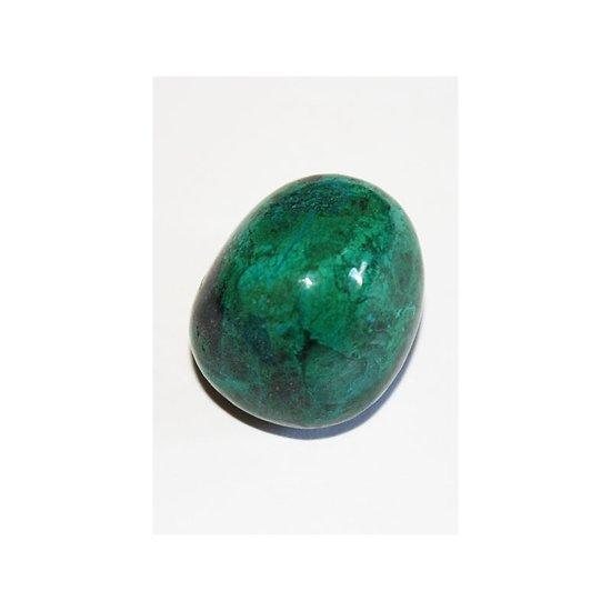 Chrysocolle  en pierre roulée pour la collection ou thérapie