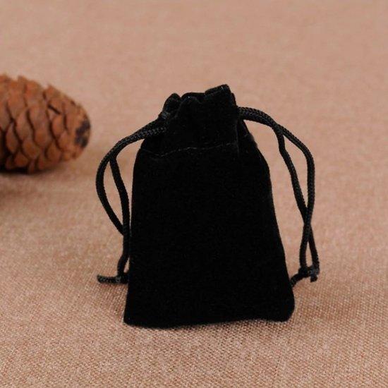Petit sac velour avec cordon de serrage