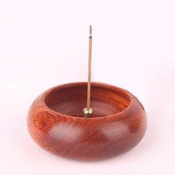 Brûleur japonais en bois de rose de birmanie pour bâtons d'encens