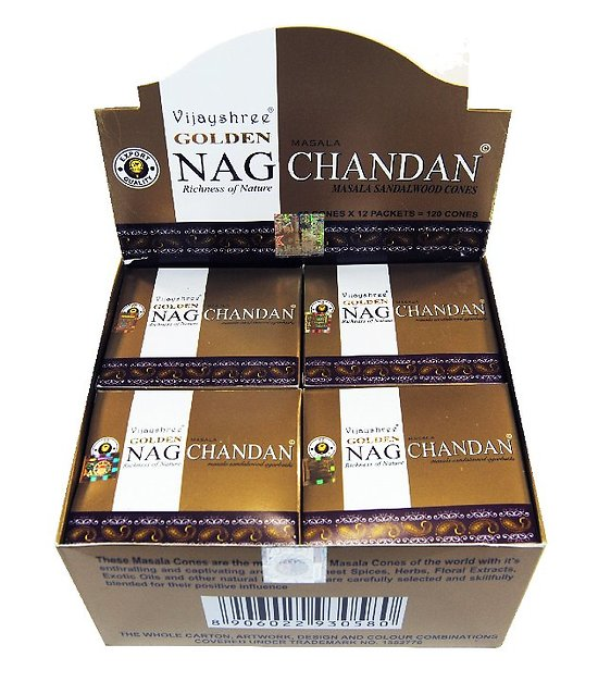 GOLDEN NAG CHANDAN CONES
