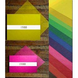 Feuilles papier cristal couleur cellulose A5
