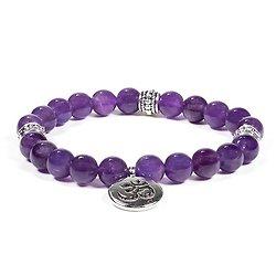 Mala / bracelet améthyste élastique om