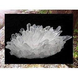 Amas de Cristal de quartz blanc clair