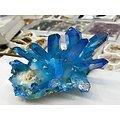 Amas de Cristal de quartz Aura bleu titane