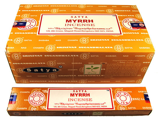 Encens bâtonnets Satya MYRRH