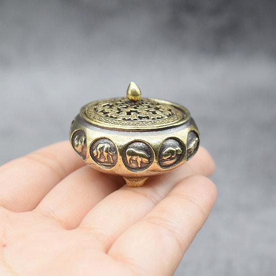 Encensoir  Antique chinois 12 animaux du zodiaque, brûleur d'encens.
