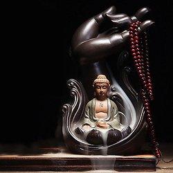 Ganesh brûleur d'encens à reflux en céramique