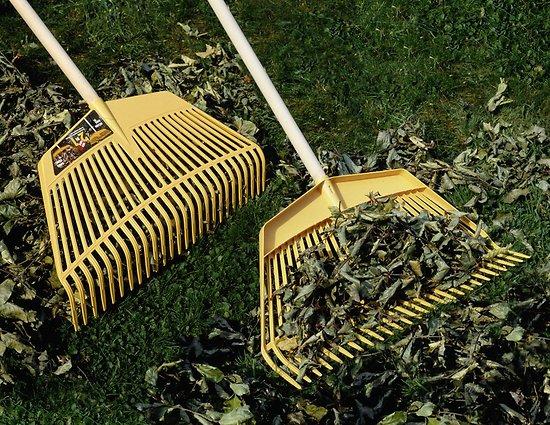 Râteau PVC ç feuilles 26 dents avec manche