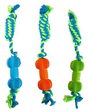 Jouet Dental Dumbell Ruffus + corde 38cm