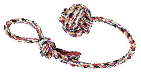 Balle sur corde pour chien