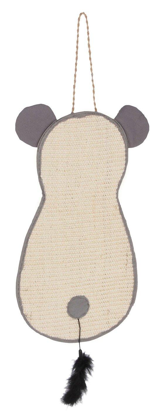 Griffoir à suspendre avec jouet en plume 66 x 25 cm