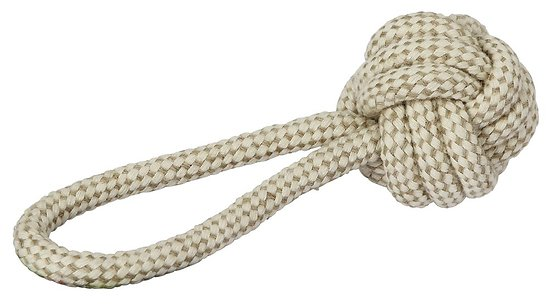 Balle et sa corde XL jute et coton