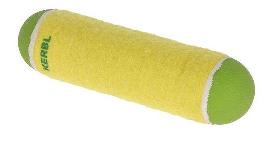 Rouleau de tennis vert et jaune flottant de 20 cm pour chien