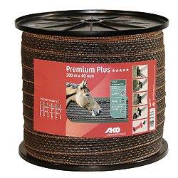 Ruban de clôture Premium Plus TriCOND Marron/orange 4cm 200 m