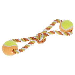 Balles de tennis avec corde pour chien