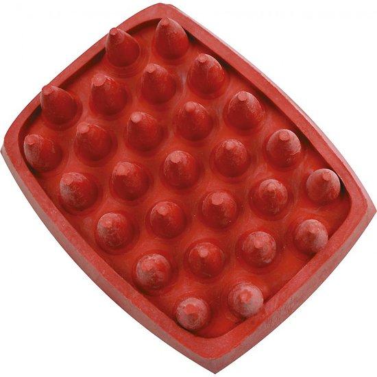 Etrille caoutchouc Rectangulaire gros picots rouge
