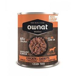 Ownat wetline GF 400gr  Poulet/carottes