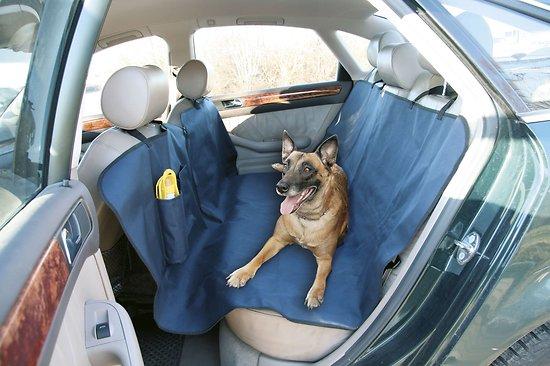 Couverture pour voiture et sa bouteille de voyage pour chien 150x140cm