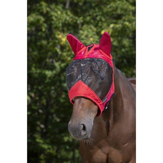Masque Anti mouche Equithème Supercut Pony Framboise