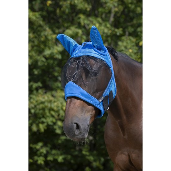 Masque Anti mouche Equithème Supercut Pony bleu