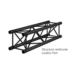 STRUCTURE RENFORCEE NOIR 2 METRE CARRE ALU 290
