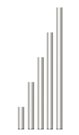 PIED FIXE 60 cm EN TUBE ALU 50 X 3 X 575 mm POUR PRATICABLE PRA-R21