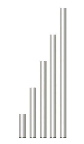PIED FIXE 40 cm EN TUBE ALU 30 X 3 X 575 mm POUR PRATICABLE PRA-R21