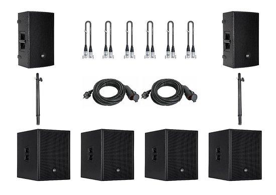 PACK SONO 5200 W POUR 300 PERSONNES / 350M² MAX