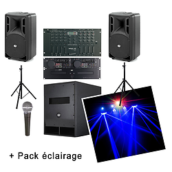 "PACK ""TOTAL FIESTA 2"" (1 200W) - PACK COMPLET PRET A L'EMPLOI"