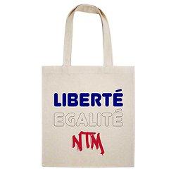 TOTE BAG LIBERTE EGALITE NTM