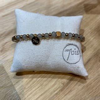 Bracelet perles & pierres précieuses