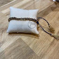 Bracelet perles d'acier & pompoms
