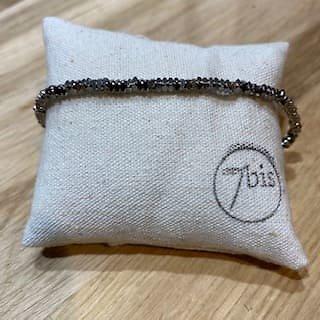 Bracelet en perles brillante