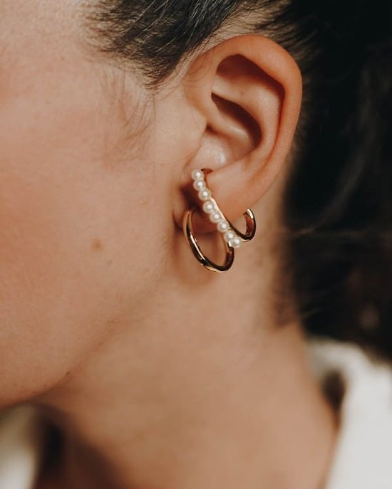 B.O Duo ear cuff perlée