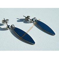 Boucles d'Oreilles Pendantes Acier Inoxydable Planche Surf 36 mm Argenté