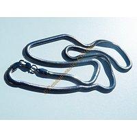 Collier Chaine Maille Serpent Plat 4mm Acier Inoxydable 52 cm