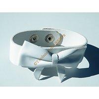 Bracelet Ceinture Simili Cuir Blanc Noeud Papillon Ceinture Mode Fashion Stylé Ajustable