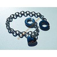 Bracelet 20 cm Pur Acier Inoxydable Fermoir C Original Coeur Breloque Love Argenté