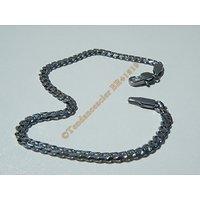 Bracelet Maillon Libre 3,5 mm  Pur Acier Chirurgical Inoxydable Argenté 21 cm