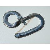 Bracelet Maille Serpentine 8 mm Pur Acier Inoxydable Chirurgical Argenté 23 cm
