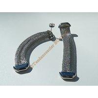Boucles d'Oreilles Pendantes Rectangle  Barbelé 3 Dimensions 68 mm Pur Acier Inoxydable Argenté Wire Souple Médieval