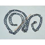 Chaine Collier 50 cm Maille Figaro 1+3 Argenté Pur Acier Inoxydable Chirurgical 5,5 mm