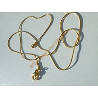 Chaine Collier 45 cm Serpentine Maille Serpent Doré Plaqué Or Pur Acier Inoxydable Chirurgical 0,7 mm
