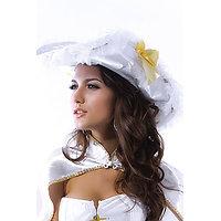 Déguisement Costume Dame blanche Pirate Chapeau  avec Cape XL
